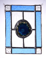 small agate panel blue